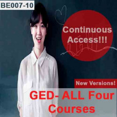 GED - All four courses - Continuous Access - NEW versions!