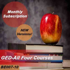 GED - All four GED courses - Monthly Subscription - NEW versions!