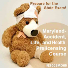 Maryland: 60 hr -  Life, Accident, and Health Pre-licensing Course